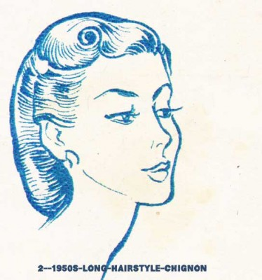 2--1950s-long-hairstyle-chignon
