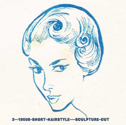 3--1950s-short-hairstyle---sculpture-cut