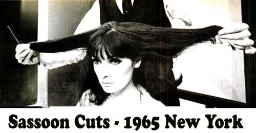 New York Model gets a bob cut from Vidal Sassoon 1965
