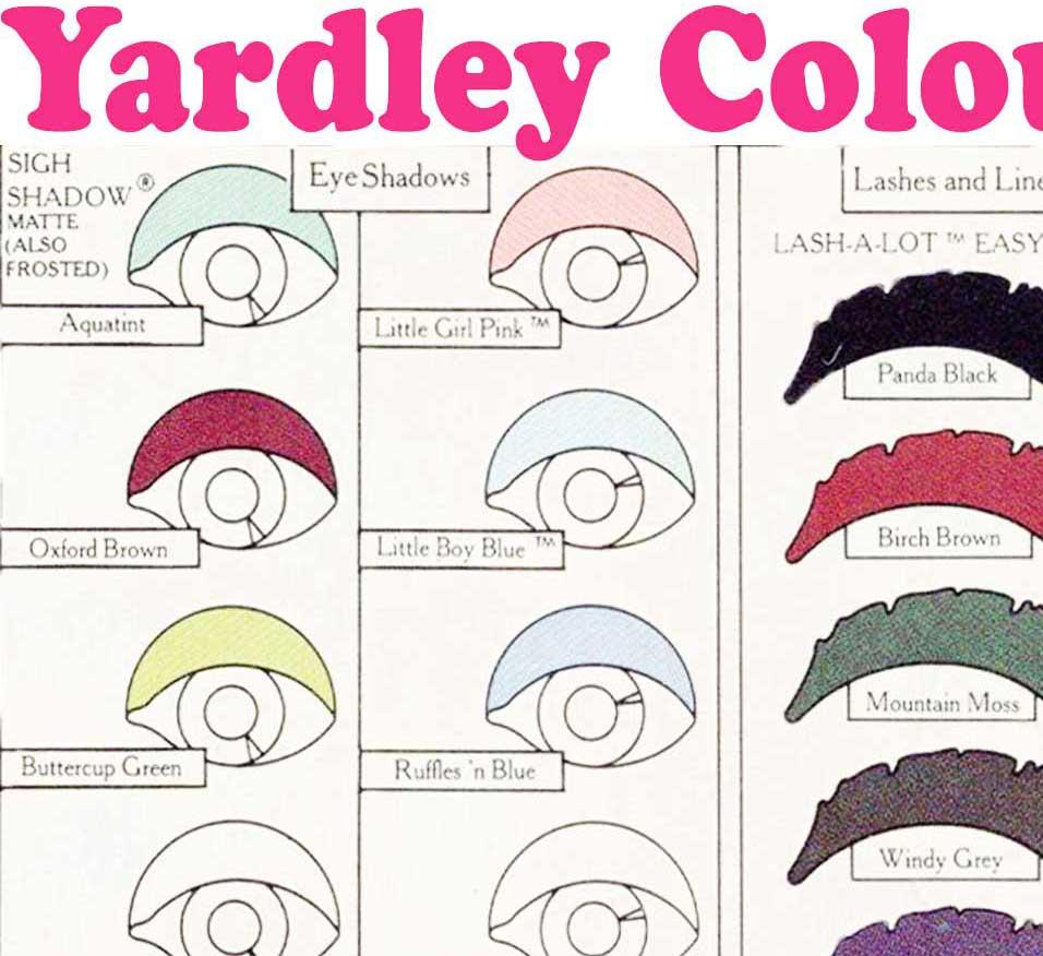 Free yardley 1970s makeup guide glamourdaze yardley 1970 makeup color chart eye shadow geenschuldenfo Gallery