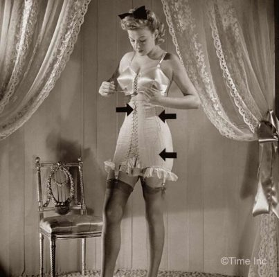 1940s wartme fashion  laced corsets  glamour daze