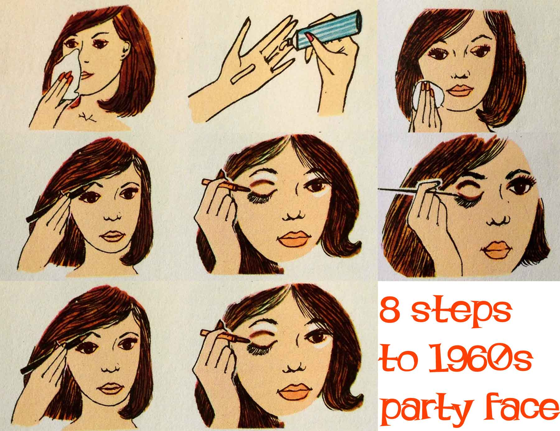 1960s makeup – eight steps to a party face | glamourdaze