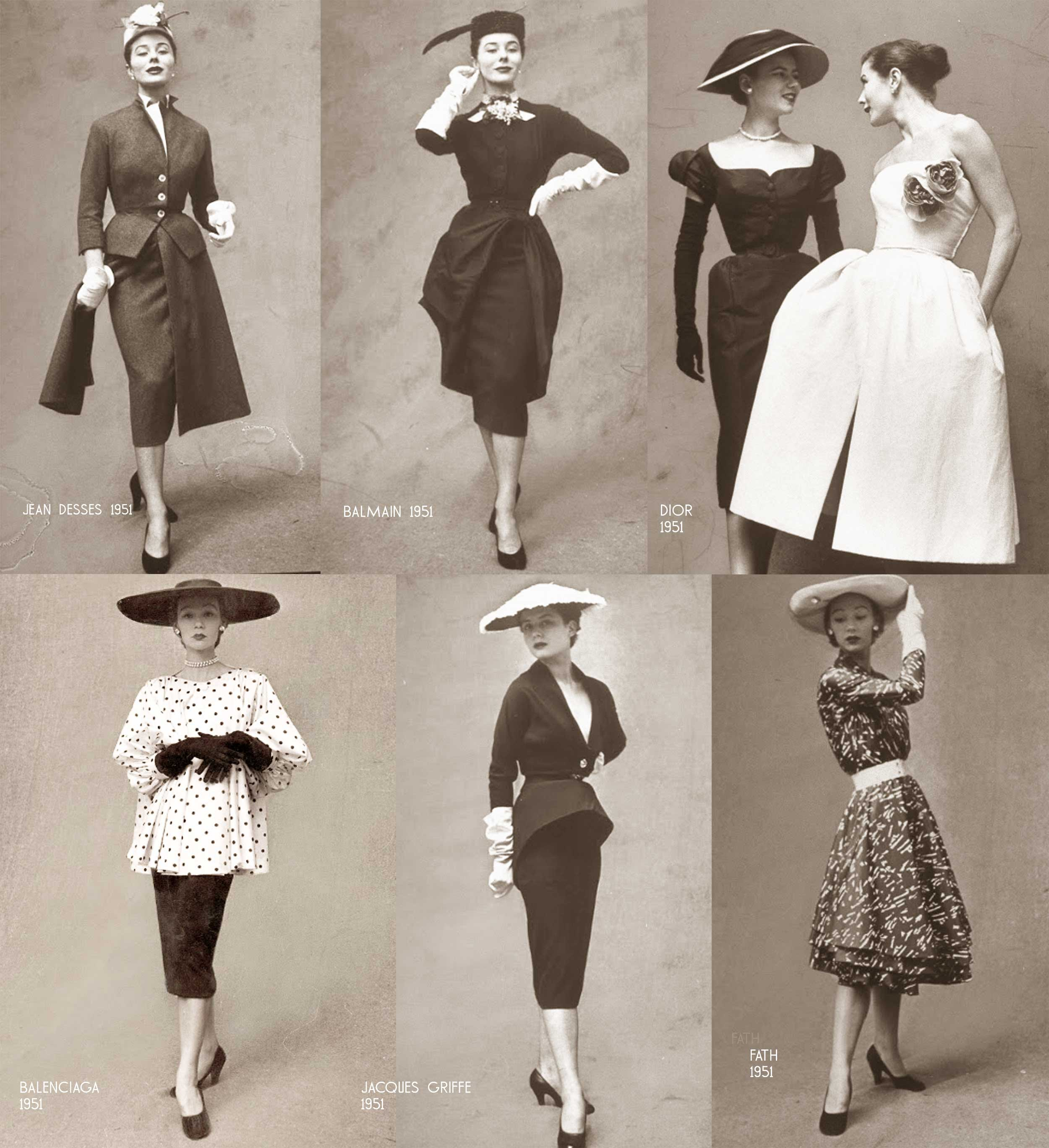Paris-Spring-Summer season---Designer-dresses-1951