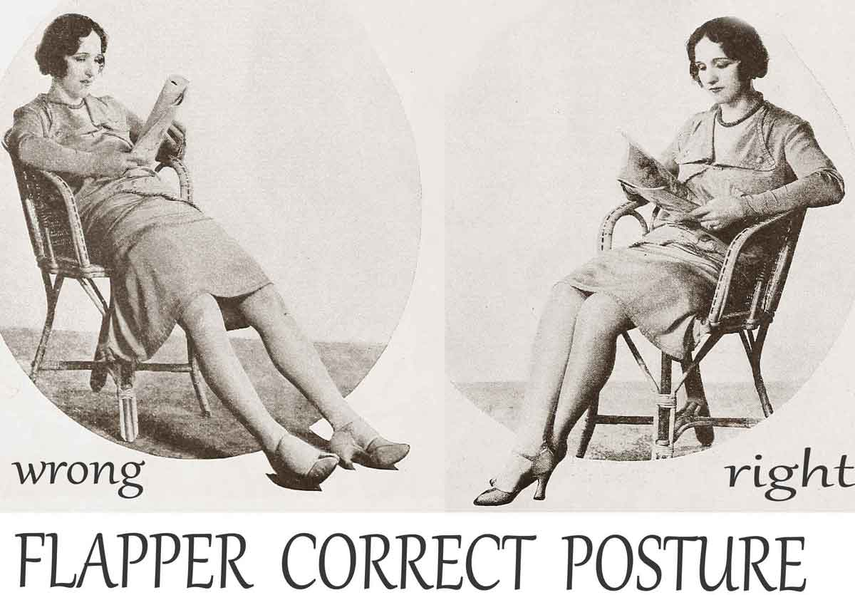 a 1920s guide to posture for flappers glamour daze