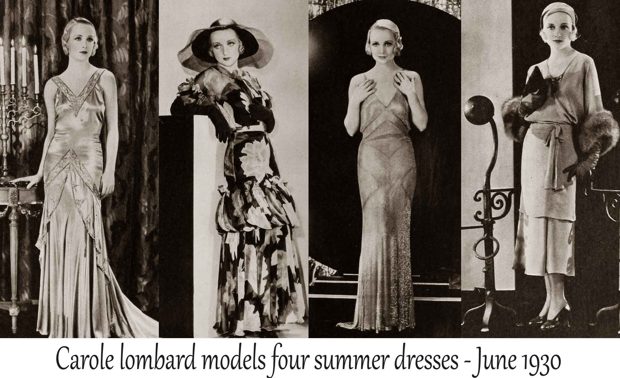 1930 Hollywood Summer Fashion June 1930