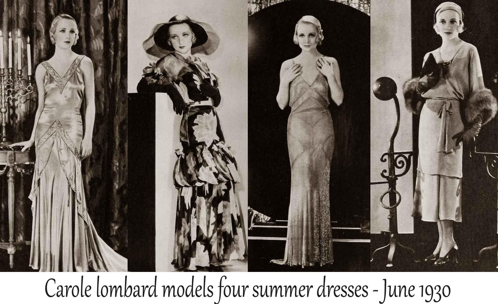1930 Hollywood Summer Fashion June 1930 Glamour Daze