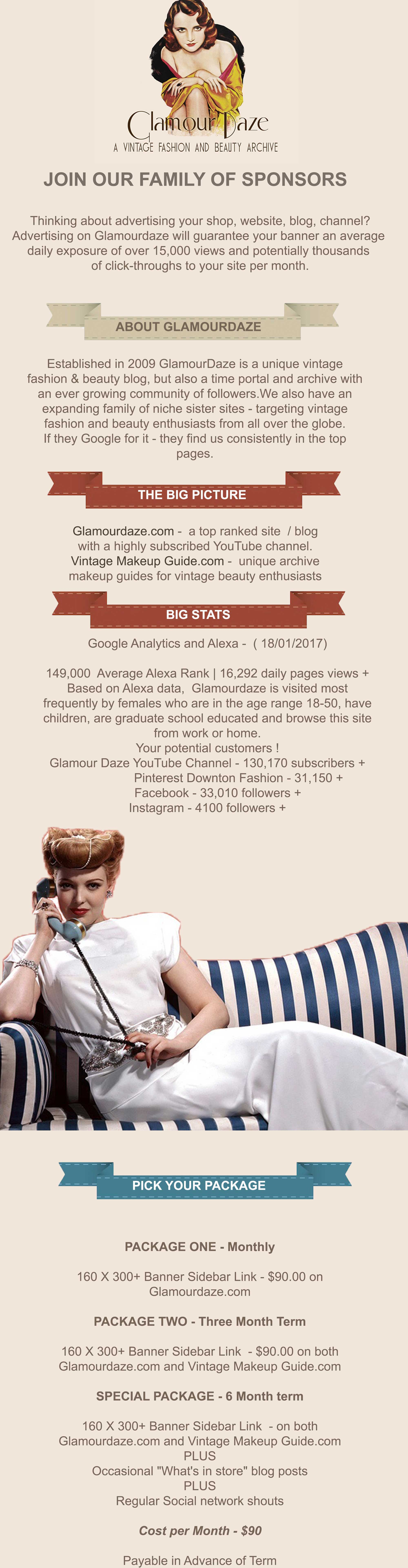 advertise of top vintage blog Glamourdaze