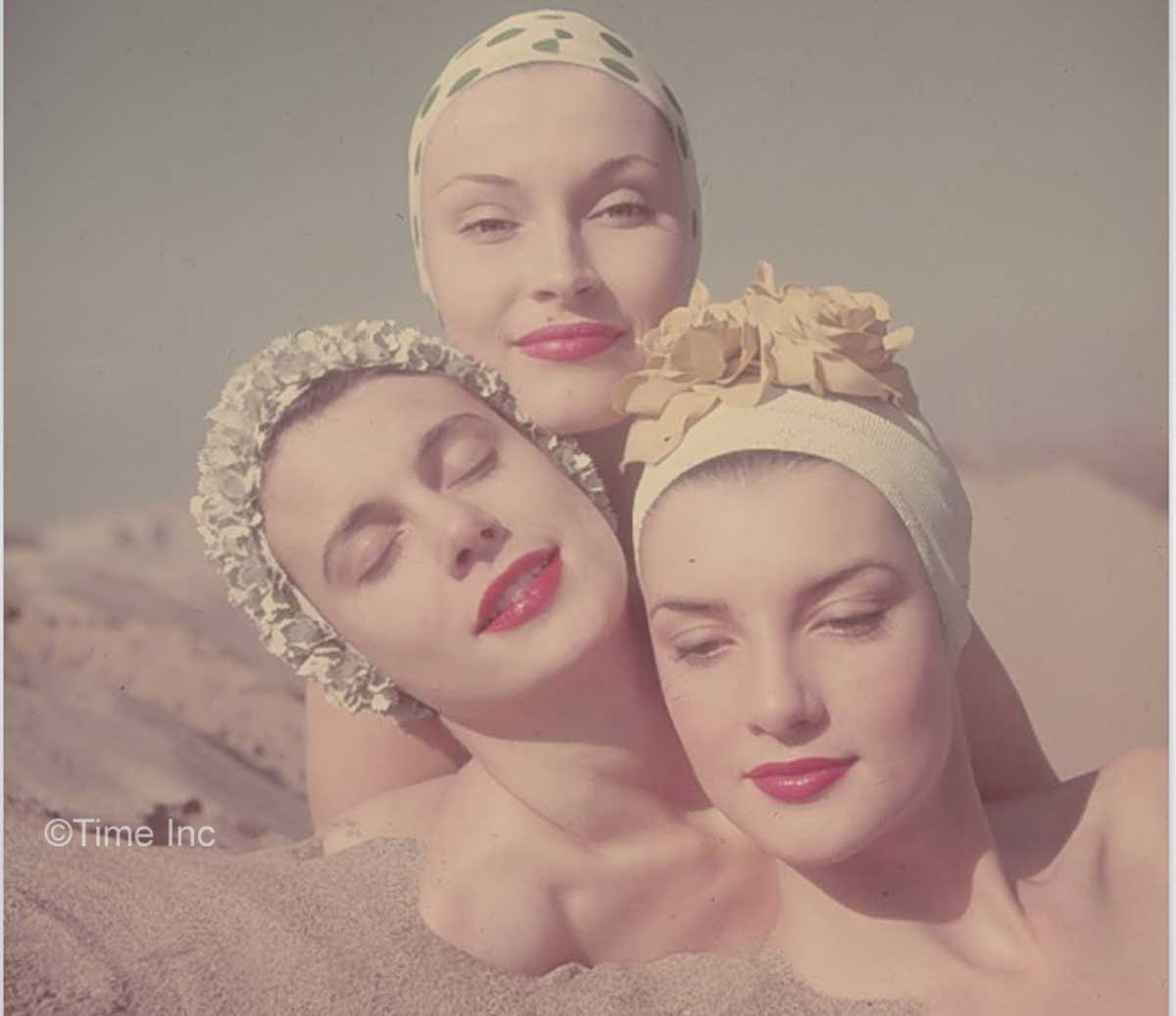 1950s Fashion – Swimming Caps In Vogue