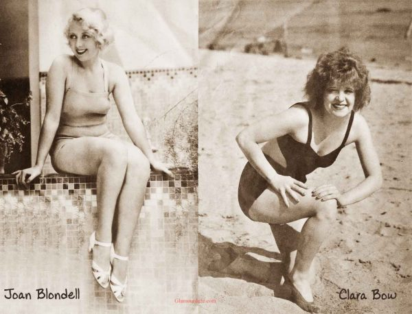 1930's bathing suits fashion---July-1932