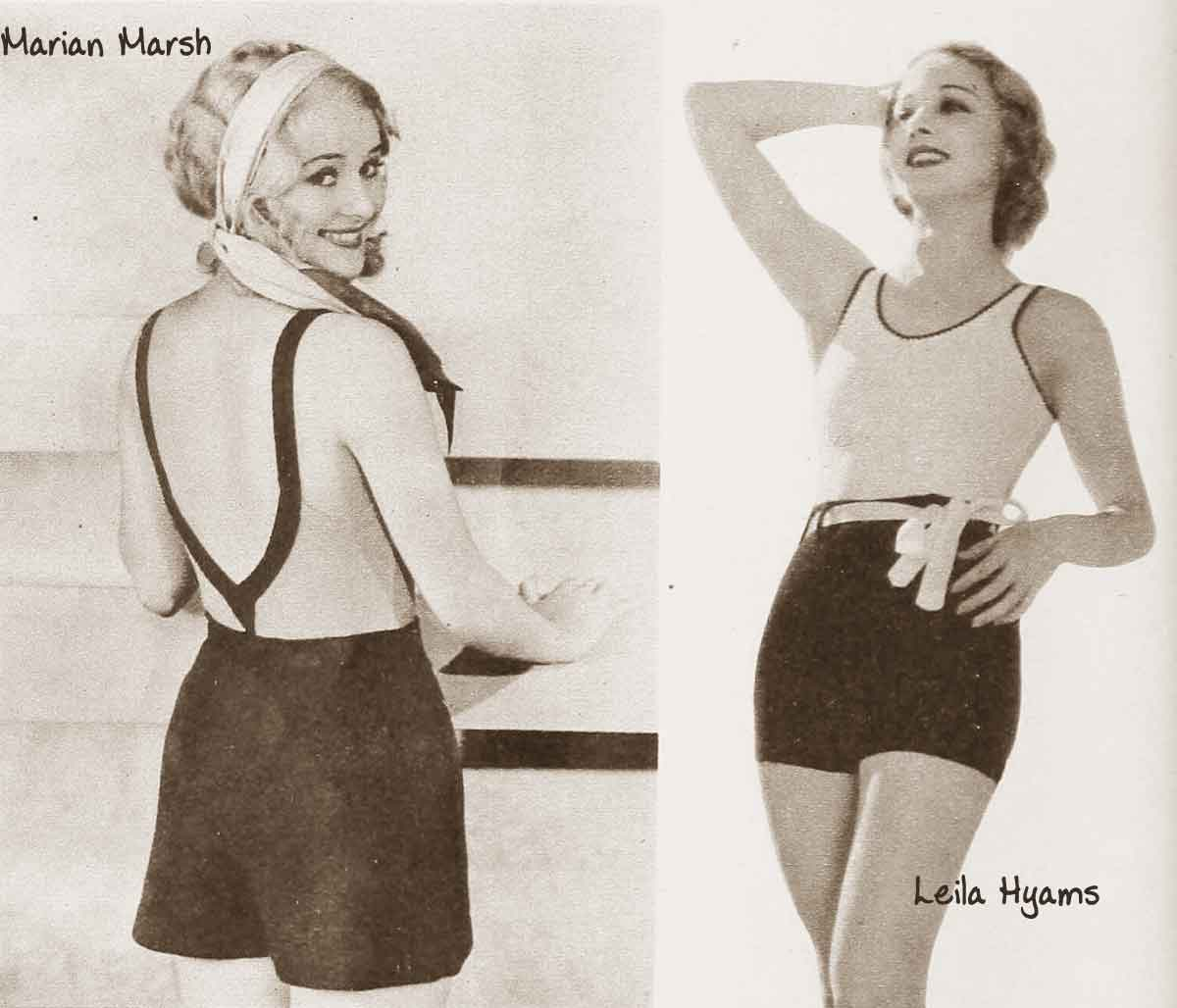 Retro Style Bathing Suits Part - 33: Hollywood-Swimsuit-fashion---July-1932d