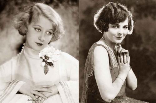 1920s-Bob-Hairstyles---Greta-Nissen-and-Helene-Chadwick