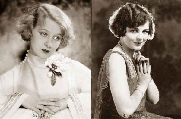1920s-Bobbed-Hairstyles---Greta-Nissen-and-Helene-Chadwick