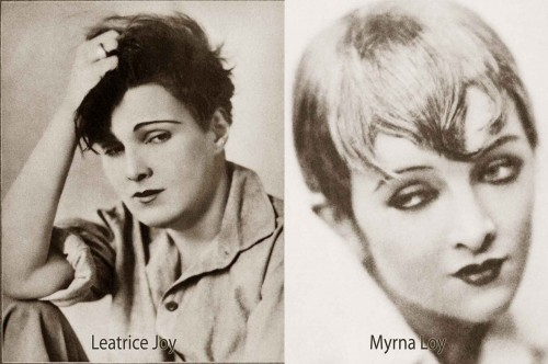 1920s-Bob-Hairstyles---Leatrice-Joy-and-Myrna-Loy