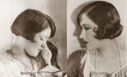 1920s-Bob-Hairstyles---Marie-Prevost-and-Gloria-Swanson