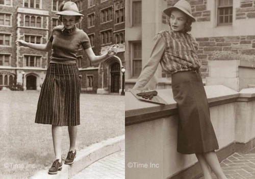 1930s-Fashion---Fall-Styles-for-1938---college-outfits