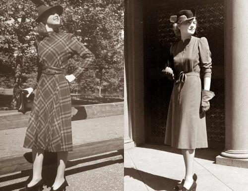 1930s-Fashion---Fall-Styles-for-1938---day-dresses