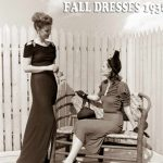 1930s Fashion – Fall Styles for 1938