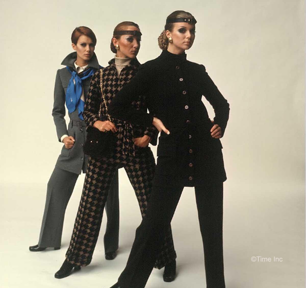1960s-Fashion---Paris-Fall-Season-of-1968---St-Laurent