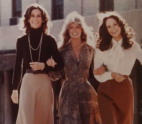 Charlies Angels---with Jaclyn Smith sporting a necktie blouse
