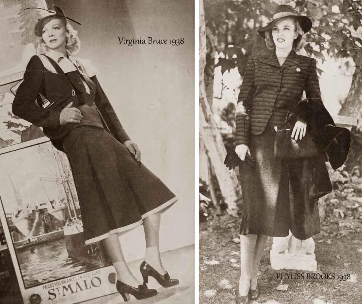 1930s Fashion More Fall Styles 1938 Glamourdaze