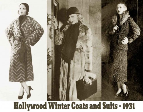1930s Fashion - The Debs Winter Wardrobe for 1931 - Coats and Suits