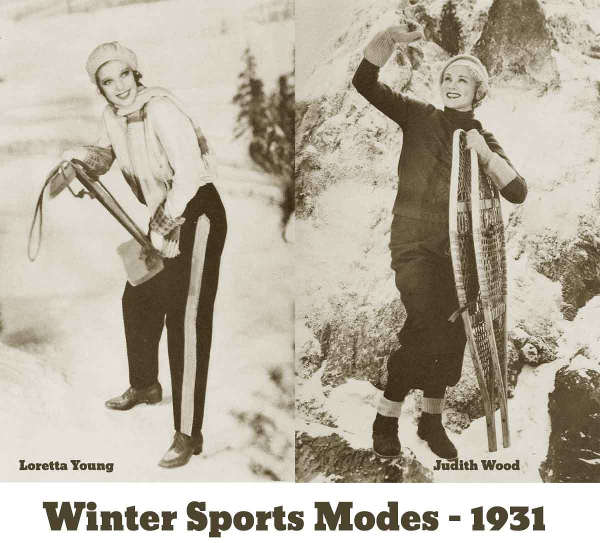 1930s Fashion - The Debs Winter Wardrobe for 1931 - Sports