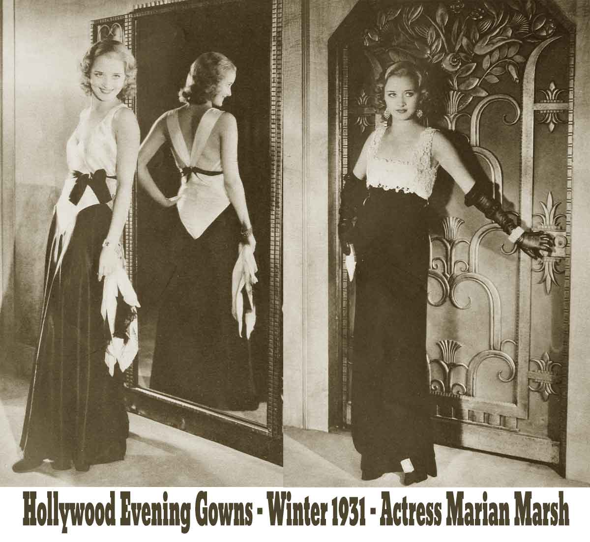 1930s Fashion - The Debs Winter Wardrobe for 1931 - evening gowns