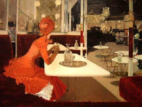 1882-Fernard-Lungren's-The-Café