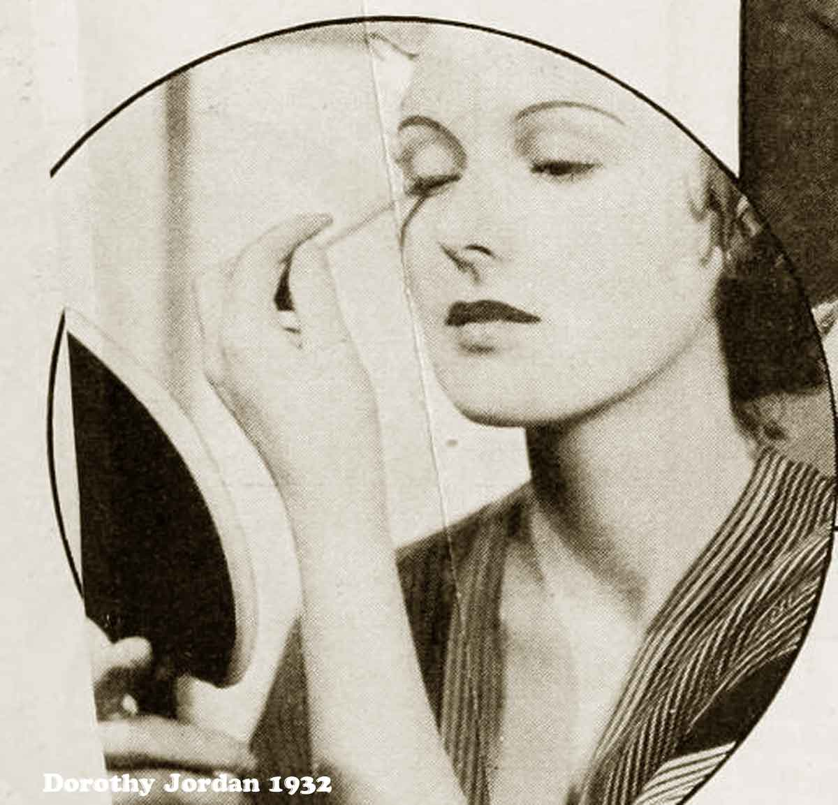 1930s Hollywood New Years Beauty Tips --Dorothy-Jordan-eyes
