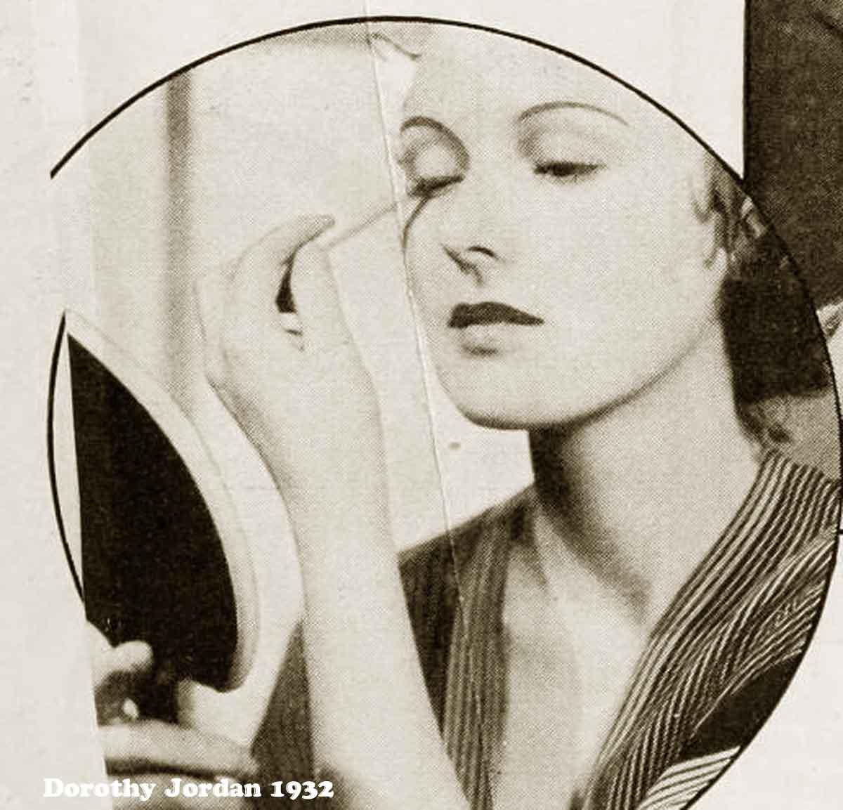1930s Hollywood New Years Beauty Tips --Dorothy-Jordan-eyes