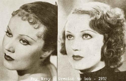 1930s Hollywood New Years Beauty Tips ---Fay-Wray-hair-bang