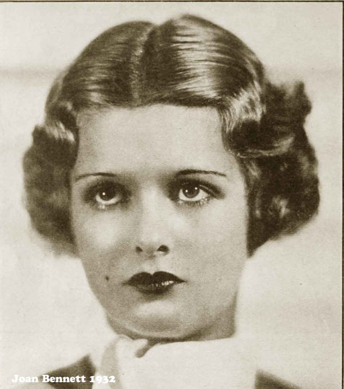 1930s Hollywood New Years Beauty Tips --Joan-Bennett