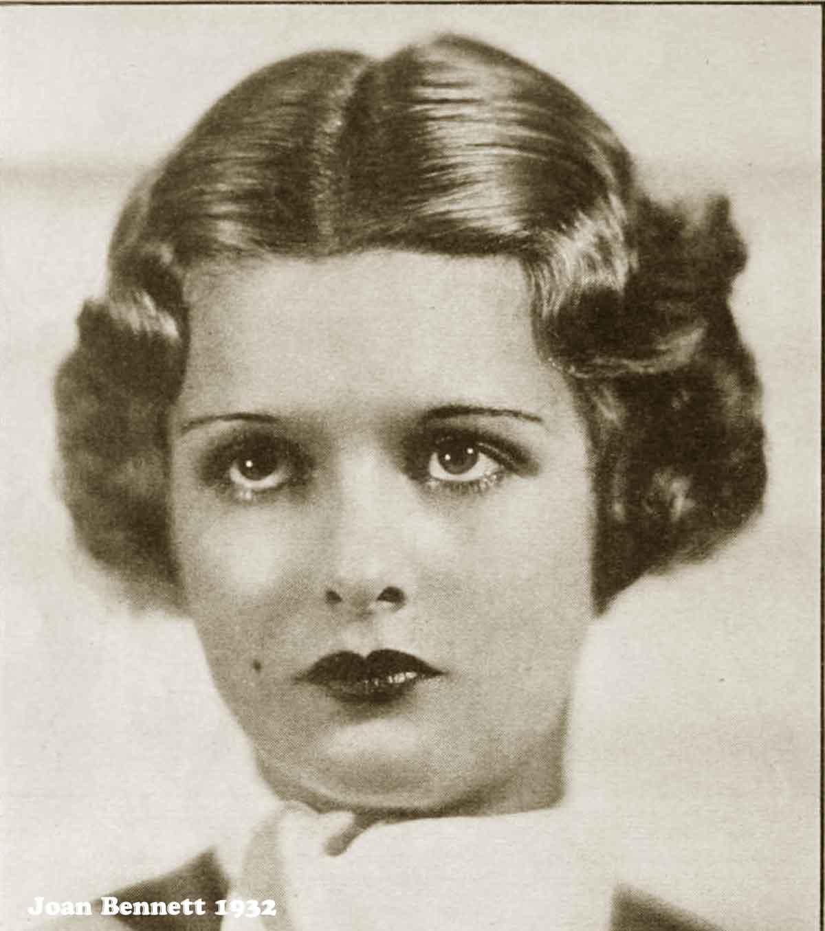 1930s Hollywood New Years Beauty Tips --Joan-Bennett