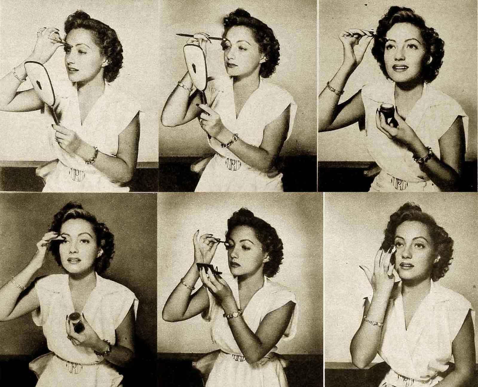 1940s Beauty - Eye Make-up Lesson 1941 | Glamour Daze