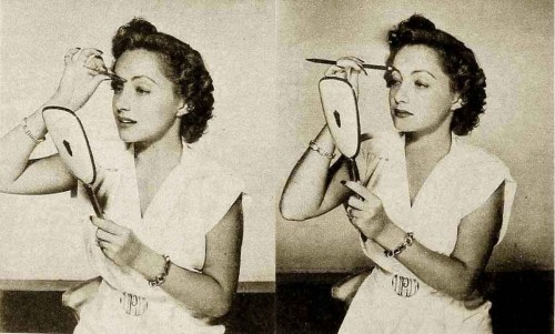 1940s-eye-makeup-class - the brows