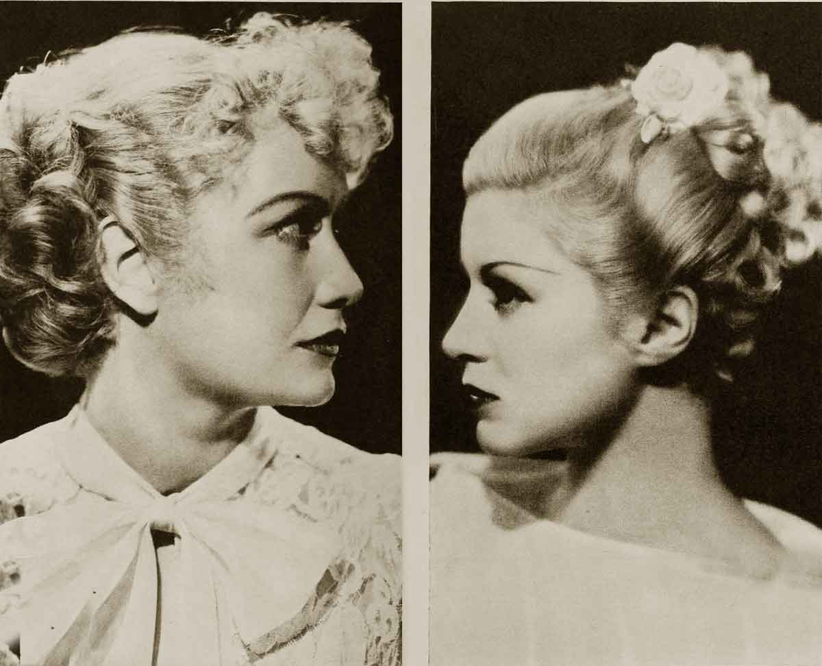 Hollywood--Coiffures-1934---Miriam-Hopkins-and-Claire-Trevor