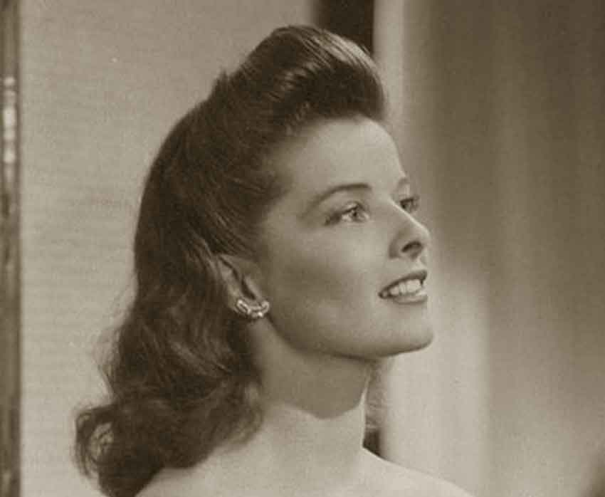 hair 1940s style 1940 s s pompadour hairstyle tutorial daze 6082 | 1940s Hairstyles Memorable Pompadours Katherine Hepburn