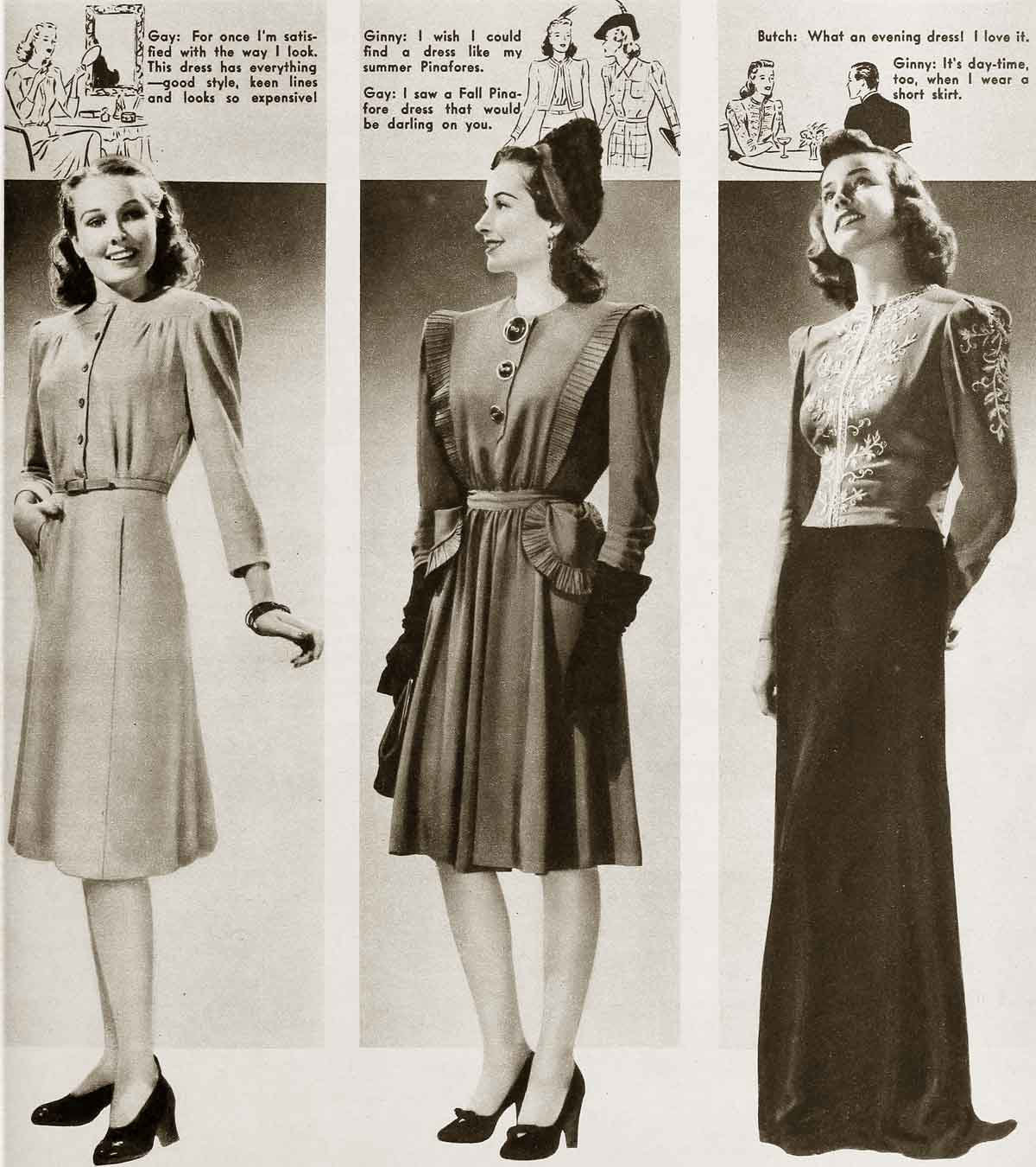 1940s Dressing Gown: 1940s Fashion - Cool Winter Styles
