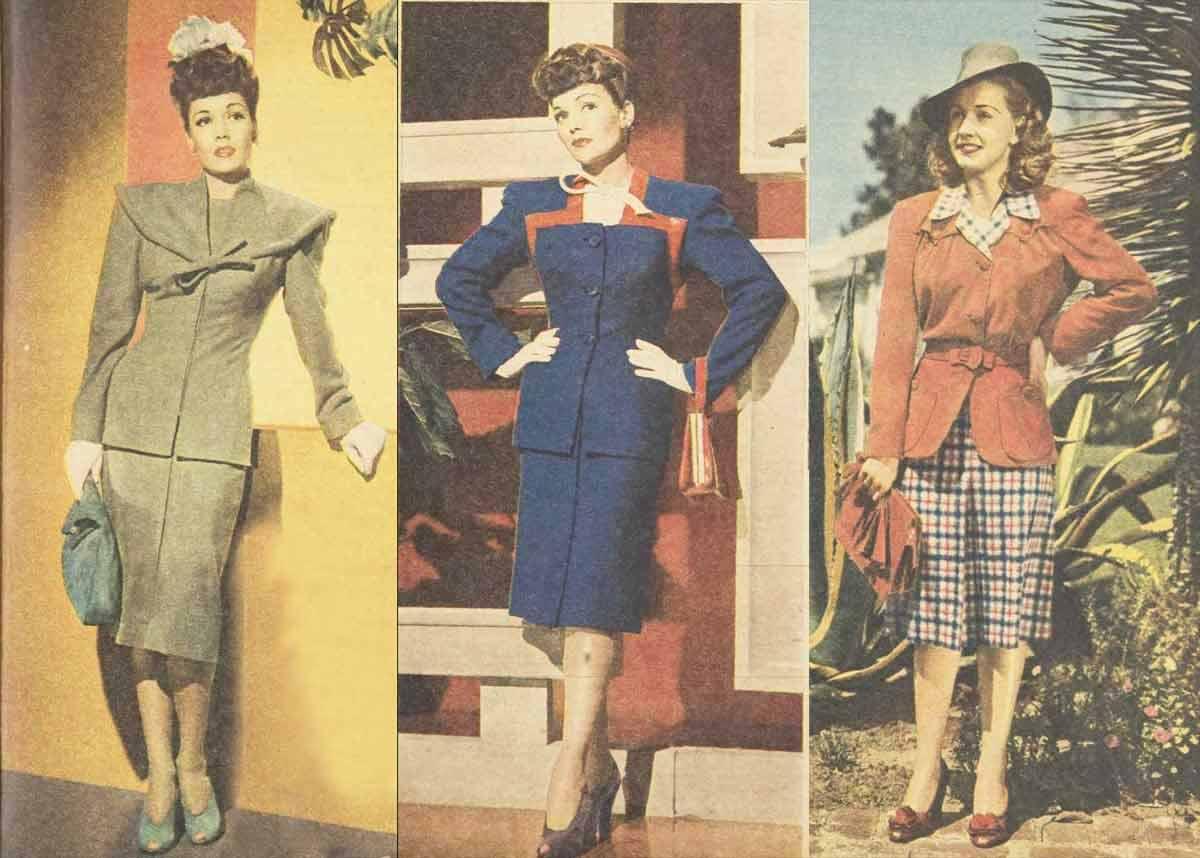 1940s Fashion Hattie Carnegie Suits In 1945 Glamour Daze