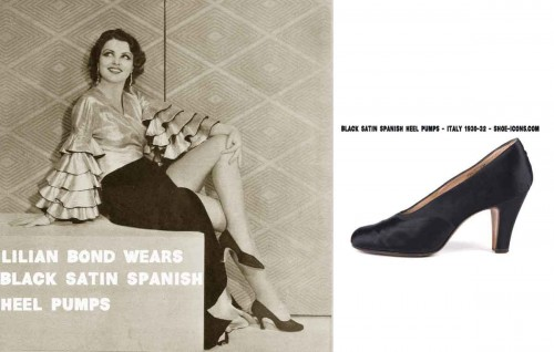 Black-satin-Spanish-heel-pumps---Italy-1930-32---shoe-icons