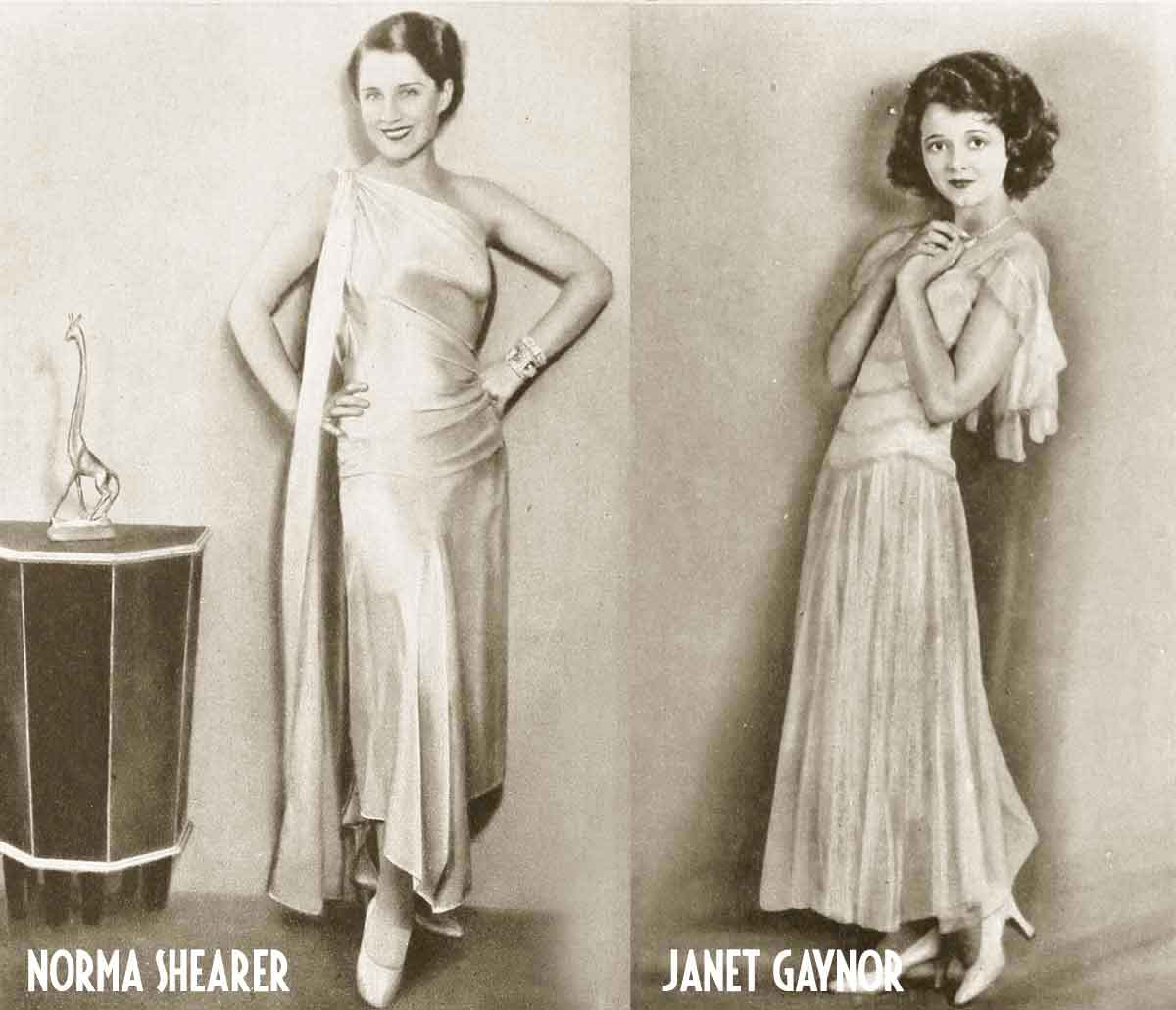 1930s-Hollywood-Fashion---Norma-Shearer-and-Janet-Gaynor