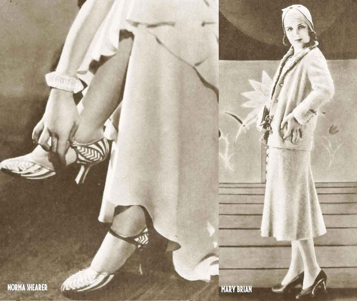 1930s-Hollywood-Fashion---Spring-Lines-for-1932-Norma-Shearer-and-Mary-Brian