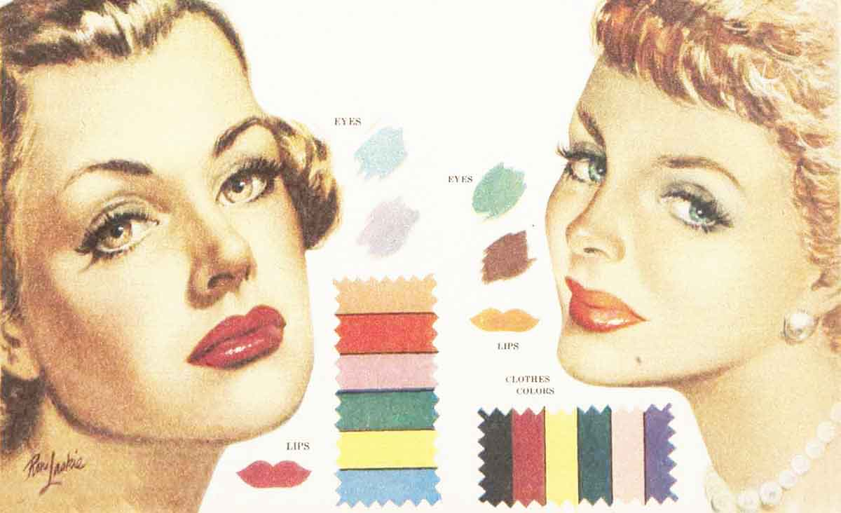 1950s makeup color harmony in 1951 glamourdaze color harmony in 1951 brown and titian nvjuhfo Gallery