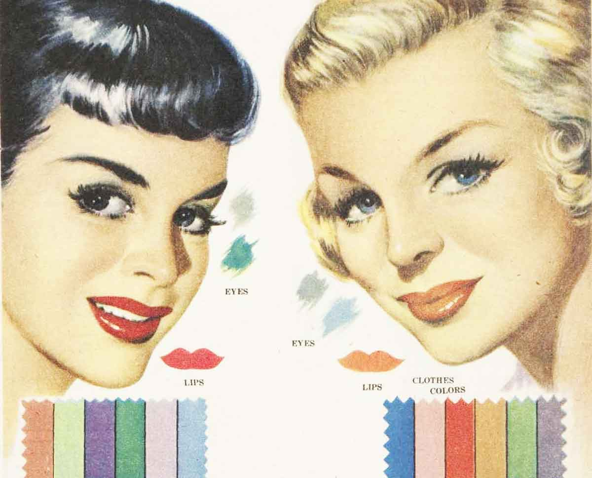1950s Makeup Color Harmony In 1951 Glamourdaze