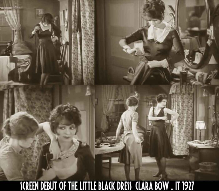 the making of a little black dress - Clara Bow