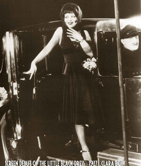 Little black dress debut - Clara Bow in It (1927)
