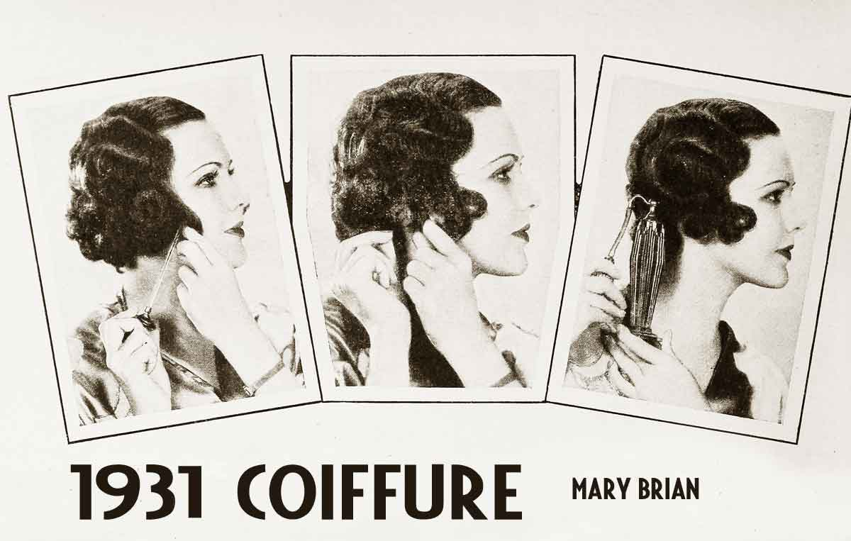 1930s hairstyle � a smart coiffure for summer 1931