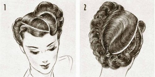 1940s Hairstyle---Exciting-Post-War-Hair-ideas---curved-parts