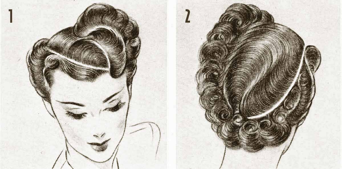 Astounding 1940S Hairstyle Exciting Post War Hair Ideas Glamourdaze Short Hairstyles Gunalazisus