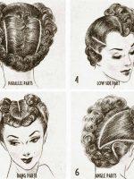 1940s-Fashion---Exciting-Post-War-Hair-ideas----parting-ideas